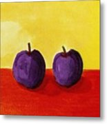 Two Plums Metal Print