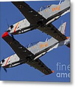 Two Pzl-130 Orlik Trainers Metal Print