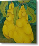 Two Quinces  2008 Metal Print