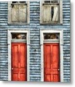Two Red Doors Metal Print