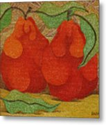 Two Red Quinces  2008 Metal Print