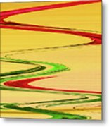 Two Red Roses Abstract Metal Print