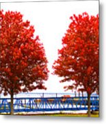 Two Red Trees Metal Print