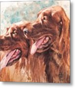 Two Redheads Metal Print by Debra Jones