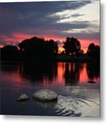 Two Rocks Sunset In Prosser Metal Print