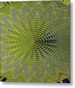 Two Saguaro Abstract #4496w3 Metal Print