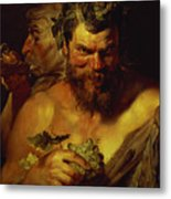 Two Satyrs Metal Print by Peter Paul Rubens