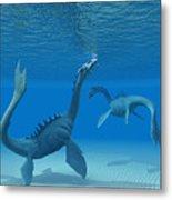 Two Sea Dragons Metal Print
