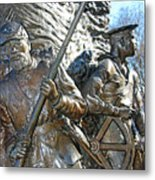 Two Soldiers Of The The African American Civil War Memorial -- The Spirit Of Freedom Metal Print