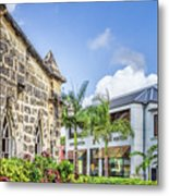 Two Solitudes, Holetown Church And Limegrove Mall, Barbados Metal Print