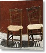 Two Spainisch Chairs  Metal Print
