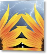 Two Sunflower Lightning Storm Metal Print by James BO  Insogna