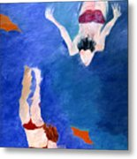 Two Swimmers Metal Print