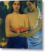 Two Tahitian Women Metal Print