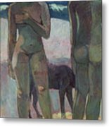 Two Tahitian Women On The Beach Metal Print