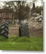 Two Tires Metal Print