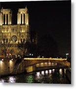 Two Towers Of Notre Dame Metal Print
