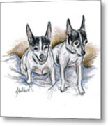 Two Toy Fox Terriers Metal Print
