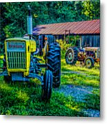 Two Tractors And A Barn 2697t Metal Print