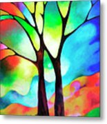 Two Trees Metal Print