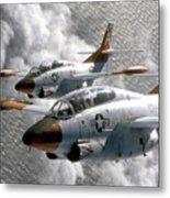 Two U.s. Navy T-2c Buckeye Aircraft Metal Print