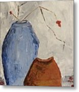 Two Vases Still Life Metal Print