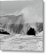 Two Waves Are Better Than One - Jersey Shore Metal Print by Angie Tirado