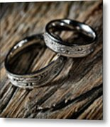 Two Wedding Rings With Celtic Design Metal Print