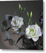 Two White Roses Metal Print
