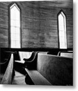Two Window Church Metal Print