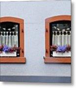 Two Windows In Schierstein Metal Print