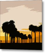 Two With The Palms Metal Print