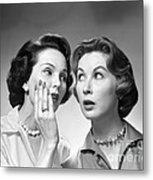 Two Women Gossiping, C.1950-60s Metal Print