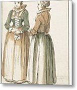 Two Women Standing Metal Print