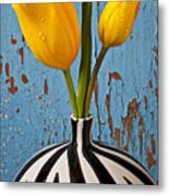 Two Yellow Tulips Metal Print by Garry Gay