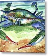 Tybee Blue Crab Metal Print