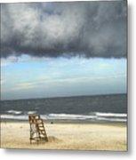 Tybee Island Storm Metal Print