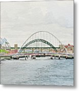 Tyne Bridges And Quayside Metal Print