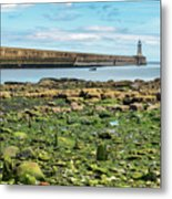 Tynemouth Pier Landscape In Color 2 Metal Print