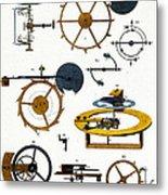 Types Of Clock Mechanism, 1810 Metal Print