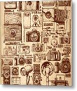Types Of Photo Cameras Metal Print
