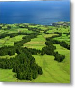 Typical Azores Islands Landscape Metal Print