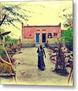 Typical House India Rajasthani Village 1j Metal Print