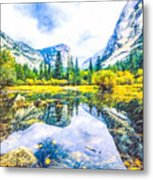Typical View Of The Yosemite National Park Metal Print