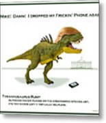 Tyrannosaurus Rump Metal Print