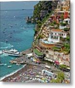 Tyrrhenian Sea Amalfi Coast Metal Print