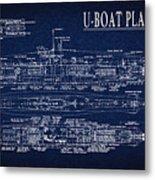 U-boat Submarine Plan Metal Print