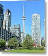 Toronto Towers From The Park Metal Print