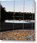 U R Here - On The Swings Metal Print