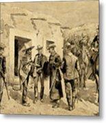 U. S. Cavalry Hunting Garza Men On The Rio Grande Metal Print